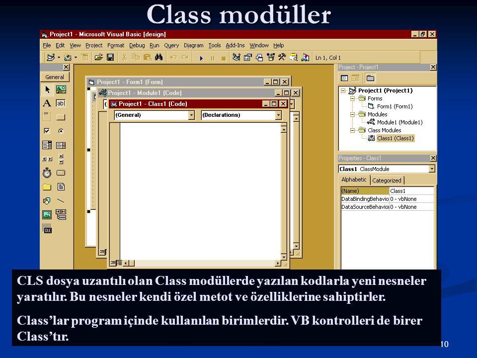 Class modüller