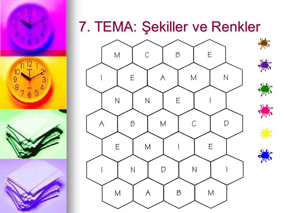 7. TEMA: Şekiller ve Renkler