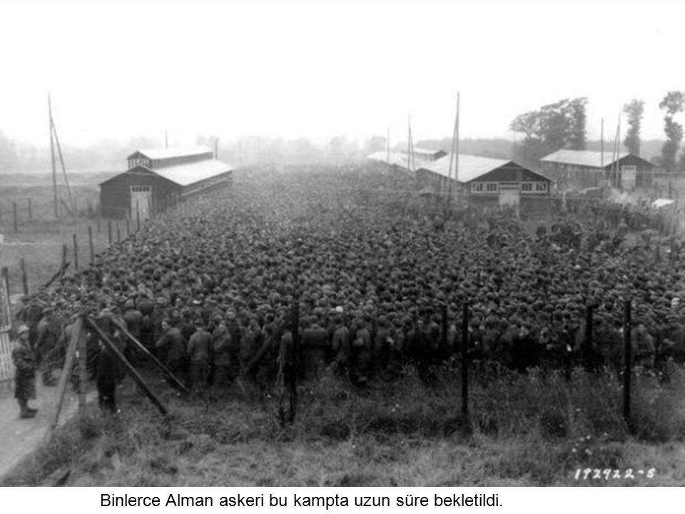 Binlerce Alman askeri bu kampta uzun süre bekletildi.