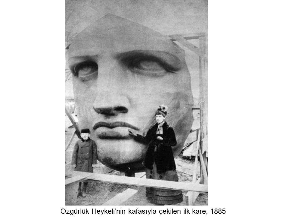 Özgürlük Heykeli'nin kafasıyla çekilen ilk kare, 1885
