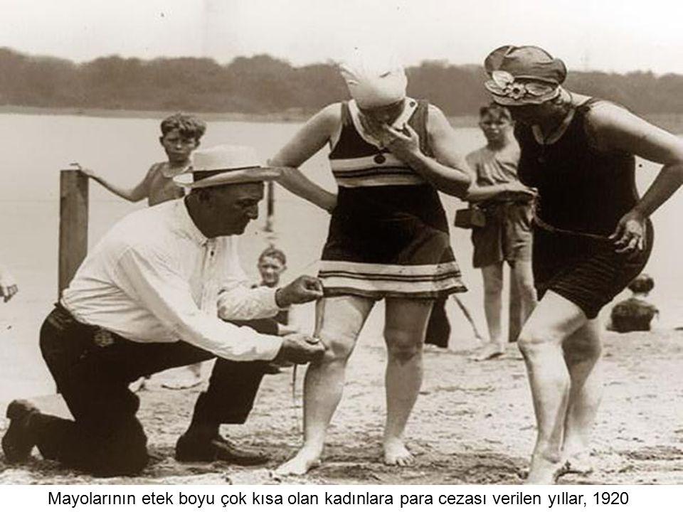 Mayolarının etek boyu çok kısa olan kadınlara para cezası verilen yıllar, 1920