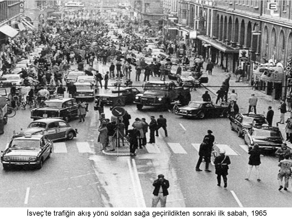 İsveç'te trafiğin akış yönü soldan sağa geçirildikten sonraki ilk sabah, 1965