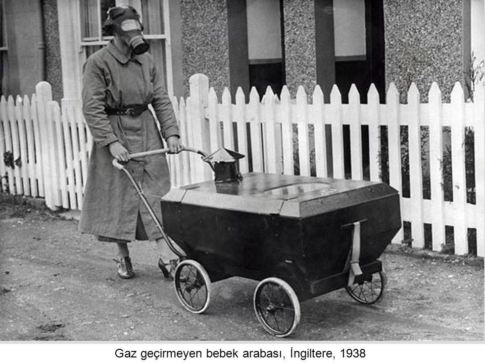 Gaz geçirmeyen bebek arabası, İngiltere, 1938