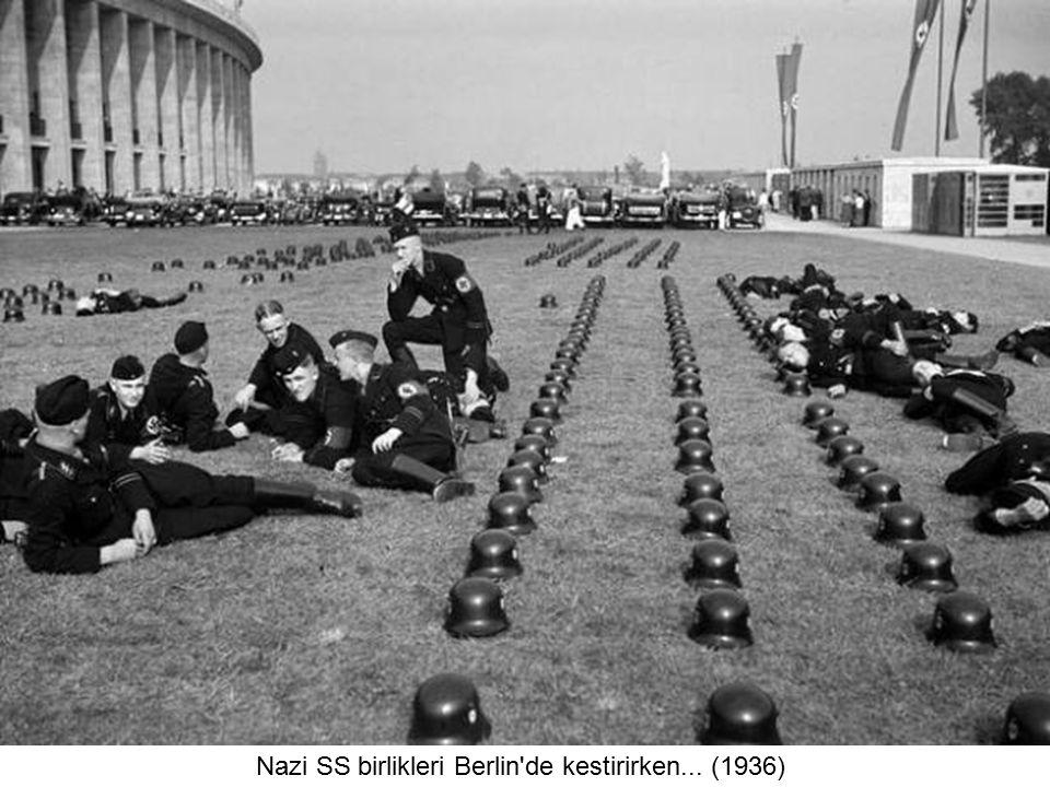 Nazi SS birlikleri Berlin de kestirirken... (1936)