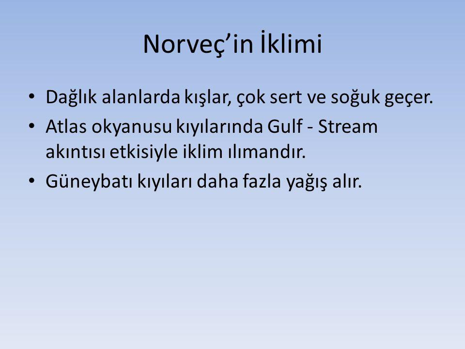 Norveç'in İklimi Dağlık alanlarda kışlar, çok sert ve soğuk geçer.