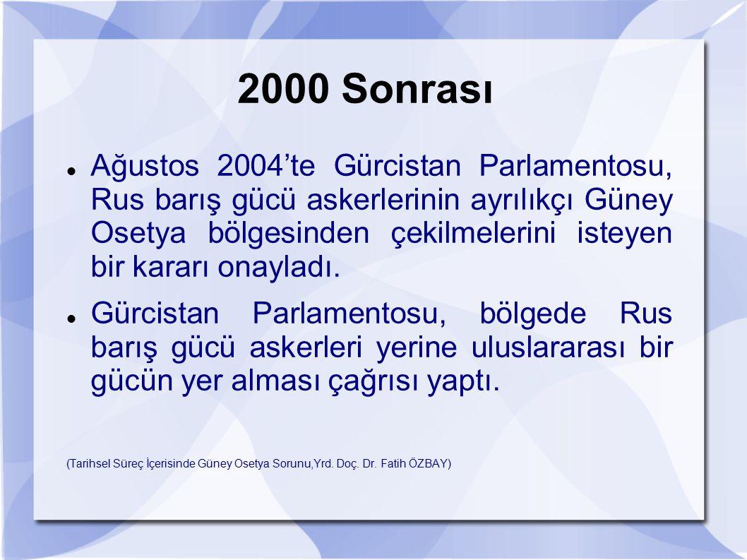 2000 Sonrası