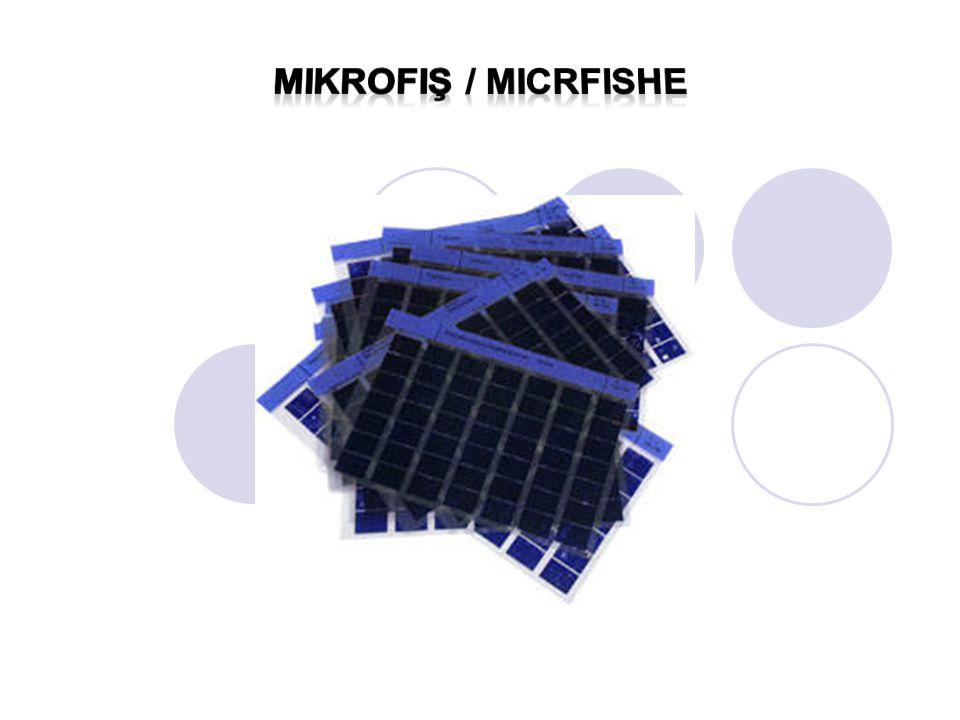 Mikrofiş / micrfishe