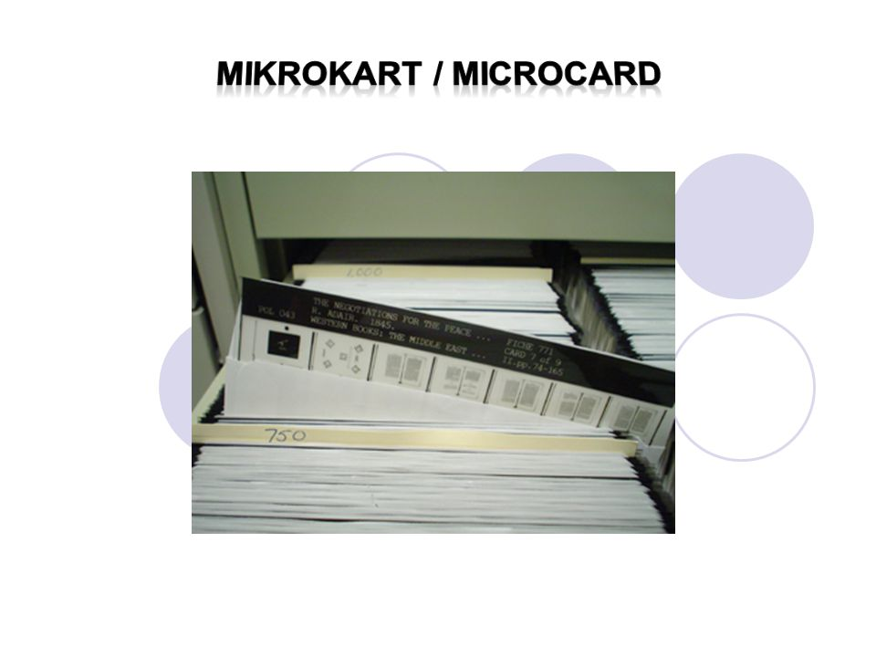 Mikrokart / microcard