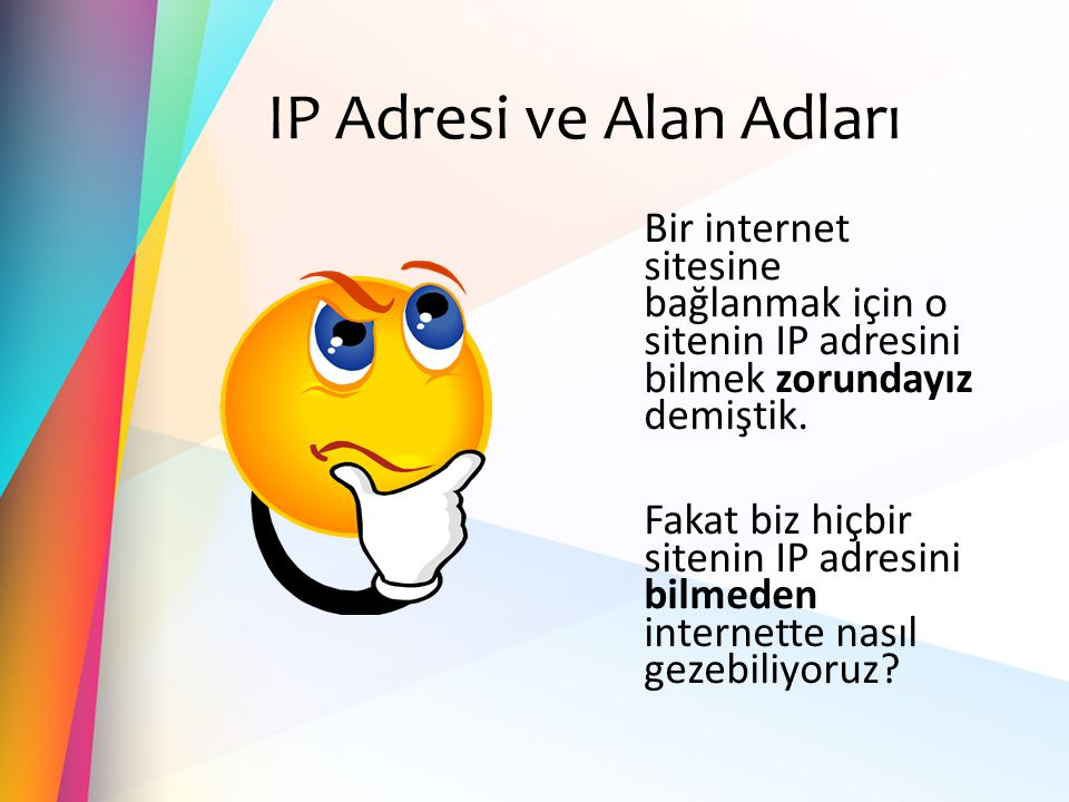 IP Adresi ve Alan Adları