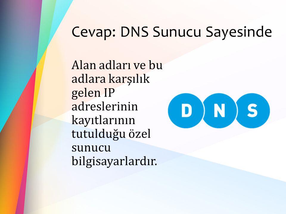 Cevap: DNS Sunucu Sayesinde