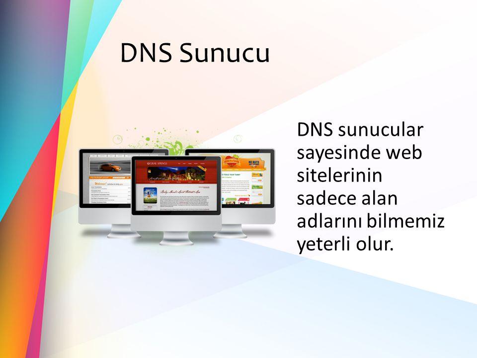DNS Sunucu DNS sunucular sayesinde web sitelerinin sadece alan adlarını bilmemiz yeterli olur.