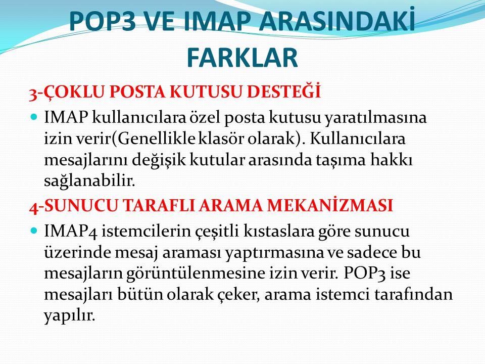 POP3 VE IMAP ARASINDAKİ FARKLAR