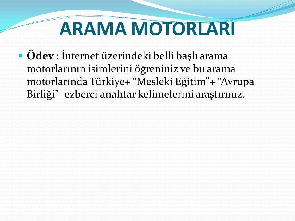 ARAMA MOTORLARI