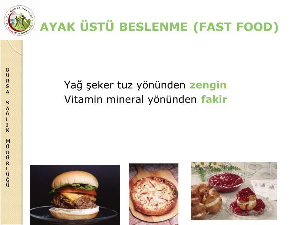 AYAK ÜSTÜ BESLENME (FAST FOOD)