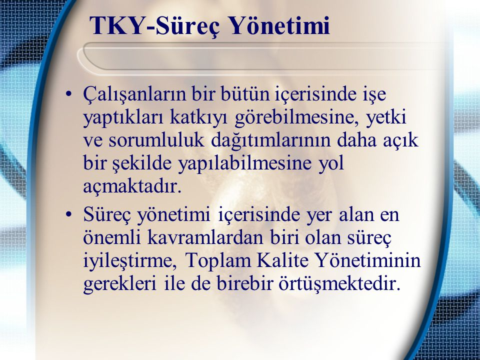 TKY-Süreç Yönetimi