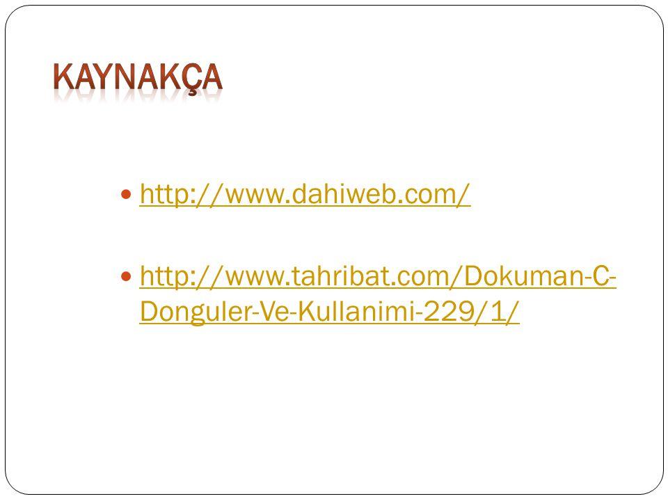 kaynakça http://www.dahiweb.com/