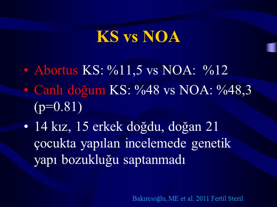 KS vs NOA Abortus KS: %11,5 vs NOA: %12