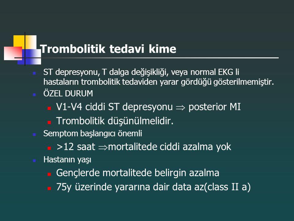 Trombolitik tedavi kime