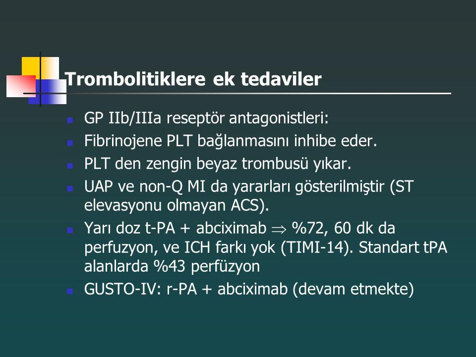 Trombolitiklere ek tedaviler