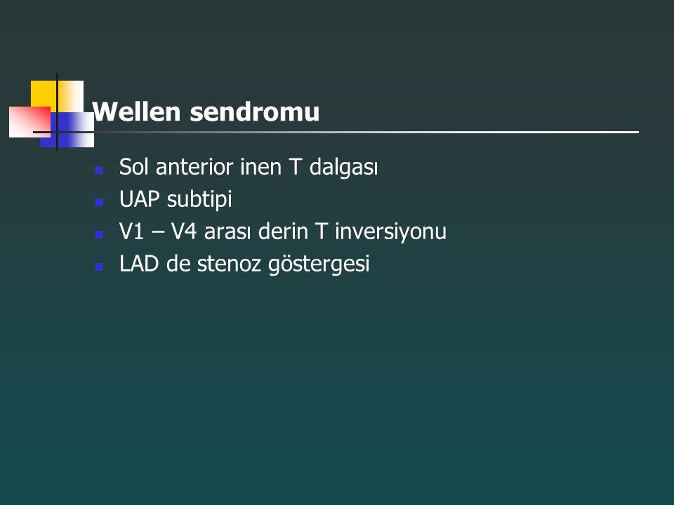 Wellen sendromu Sol anterior inen T dalgası UAP subtipi