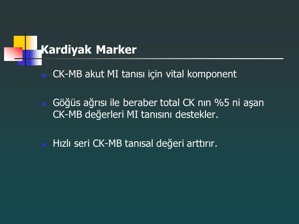 Kardiyak Marker CK-MB akut MI tanısı için vital komponent