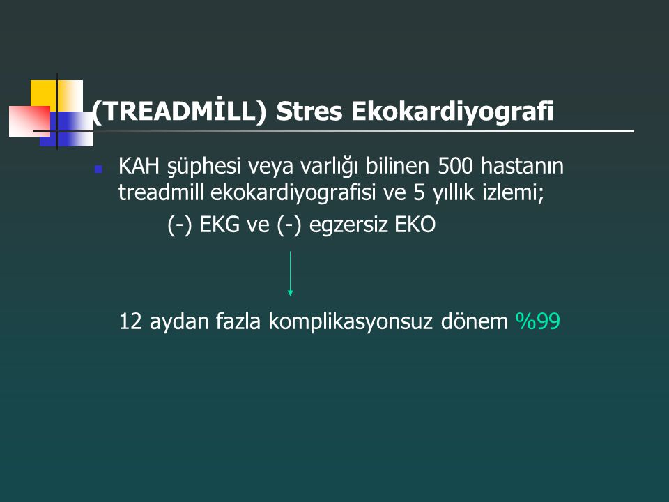 (TREADMİLL) Stres Ekokardiyografi