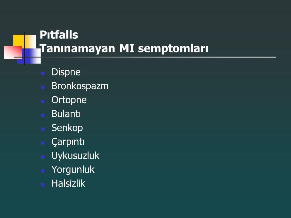 Pıtfalls Tanınamayan MI semptomları