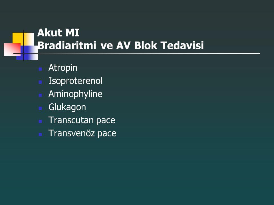 Akut MI Bradiaritmi ve AV Blok Tedavisi
