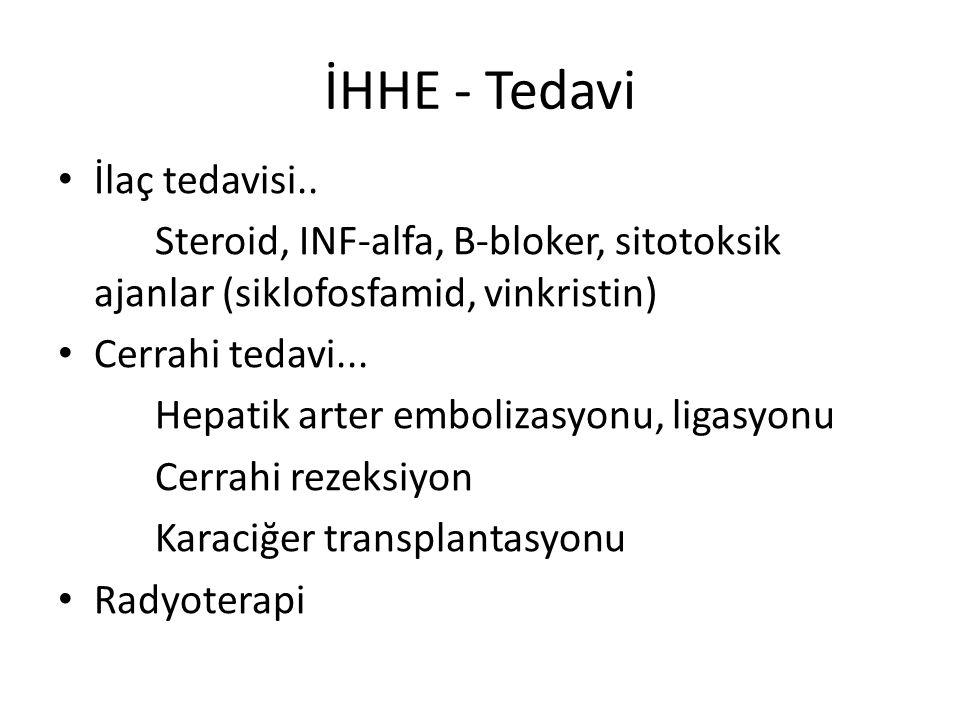 İHHE - Tedavi İlaç tedavisi..
