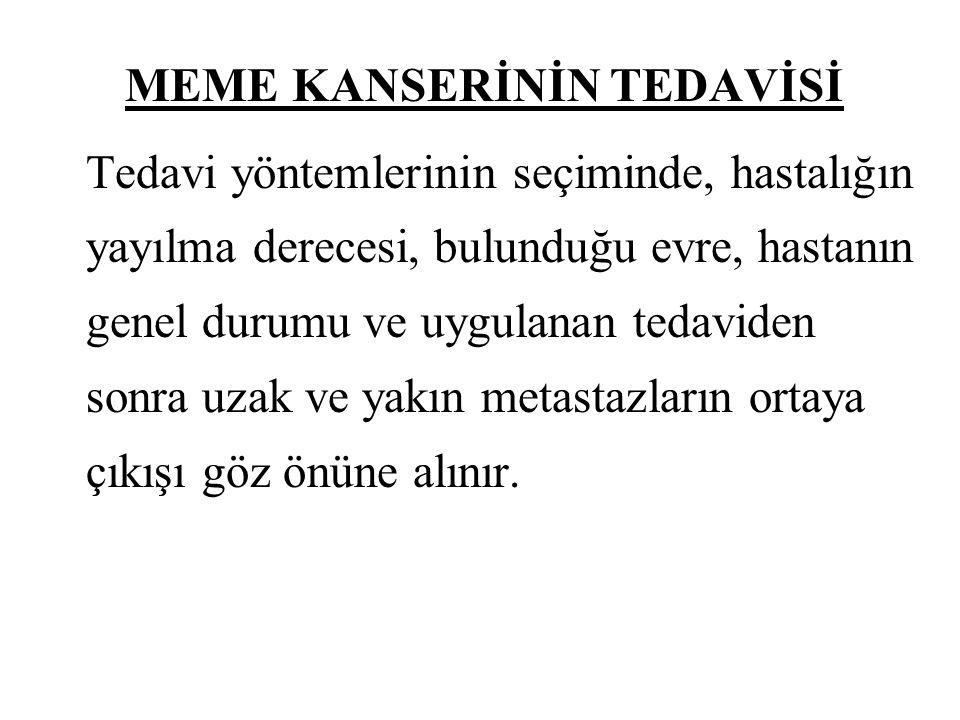 MEME KANSERİNİN TEDAVİSİ