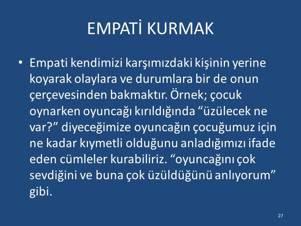 EMPATİ KURMAK