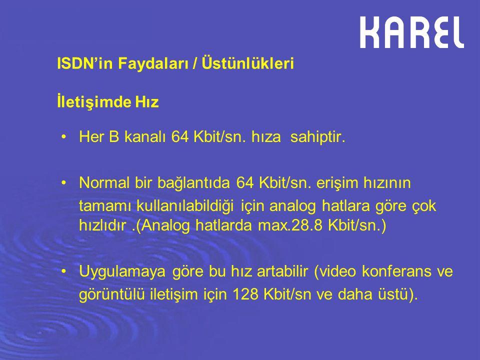 ISDN'in Faydaları / Üstünlükleri İletişimde Hız