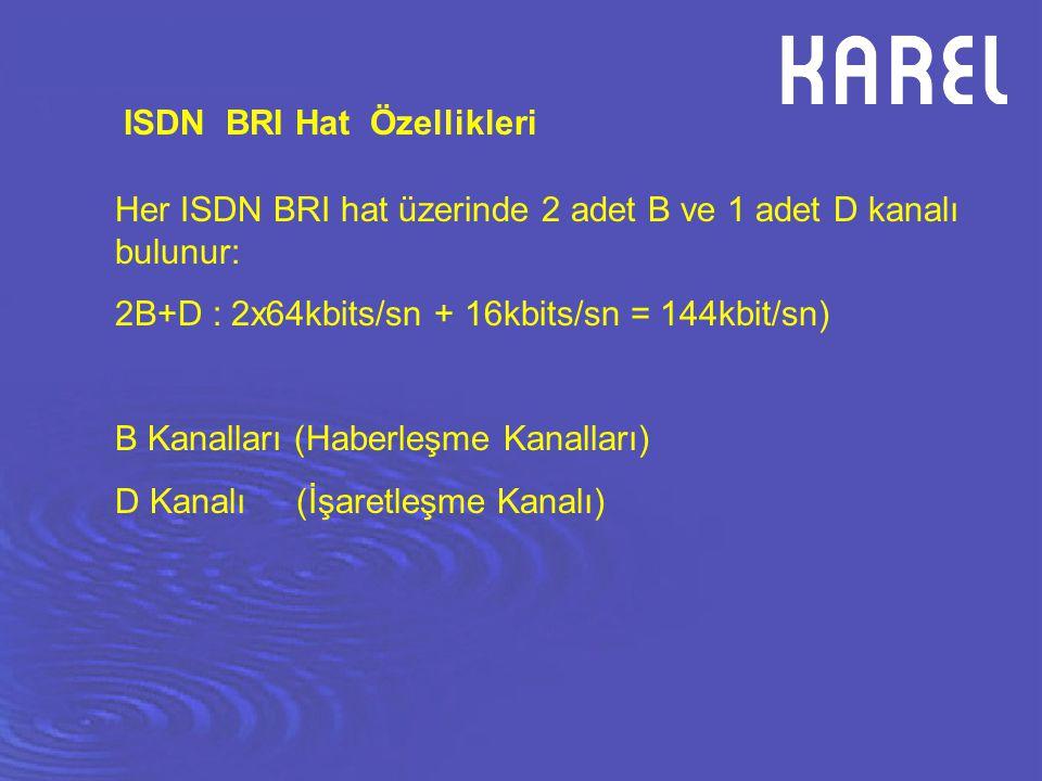 ISDN BRI Hat Özellikleri