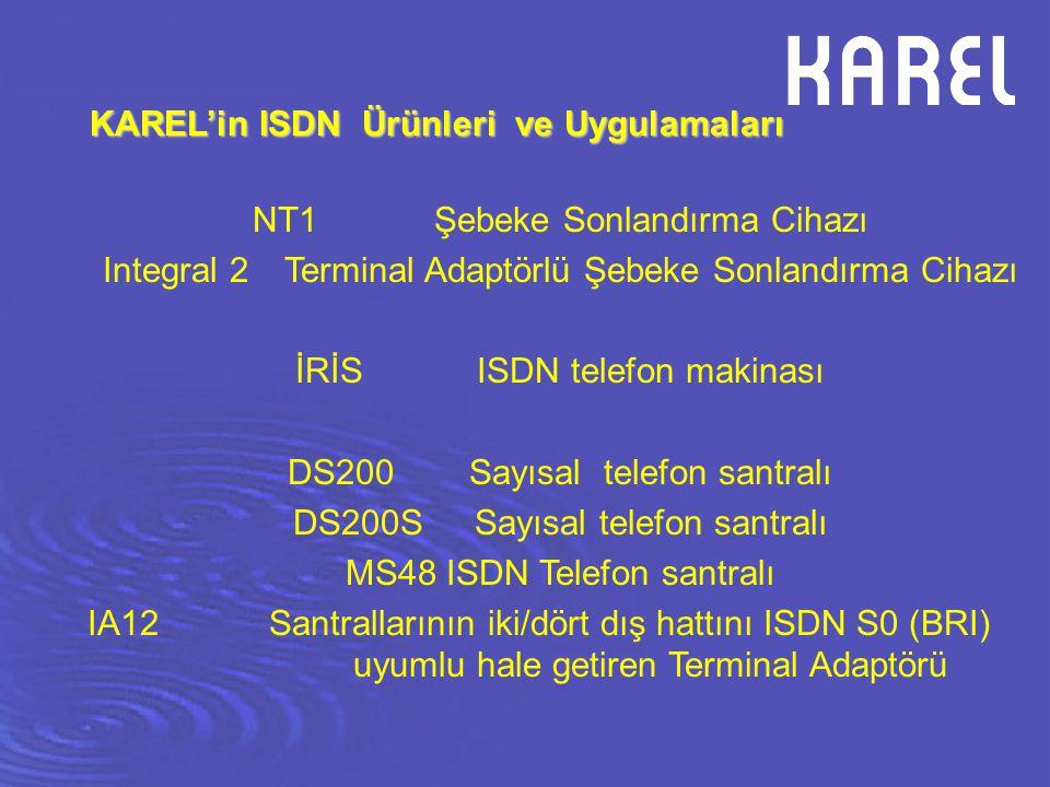 KAREL'in ISDN Ürünleri ve Uygulamaları