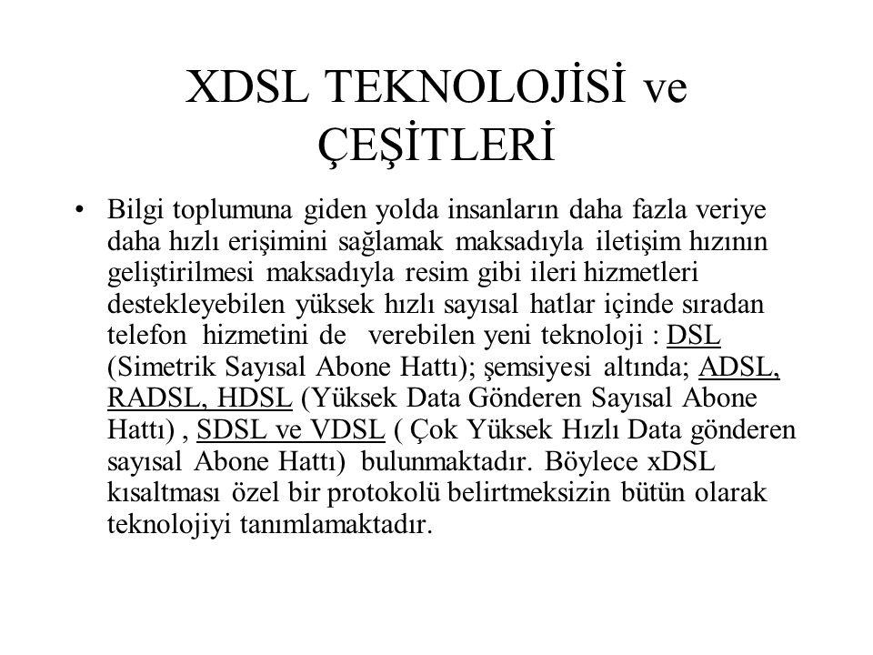 XDSL TEKNOLOJİSİ ve ÇEŞİTLERİ