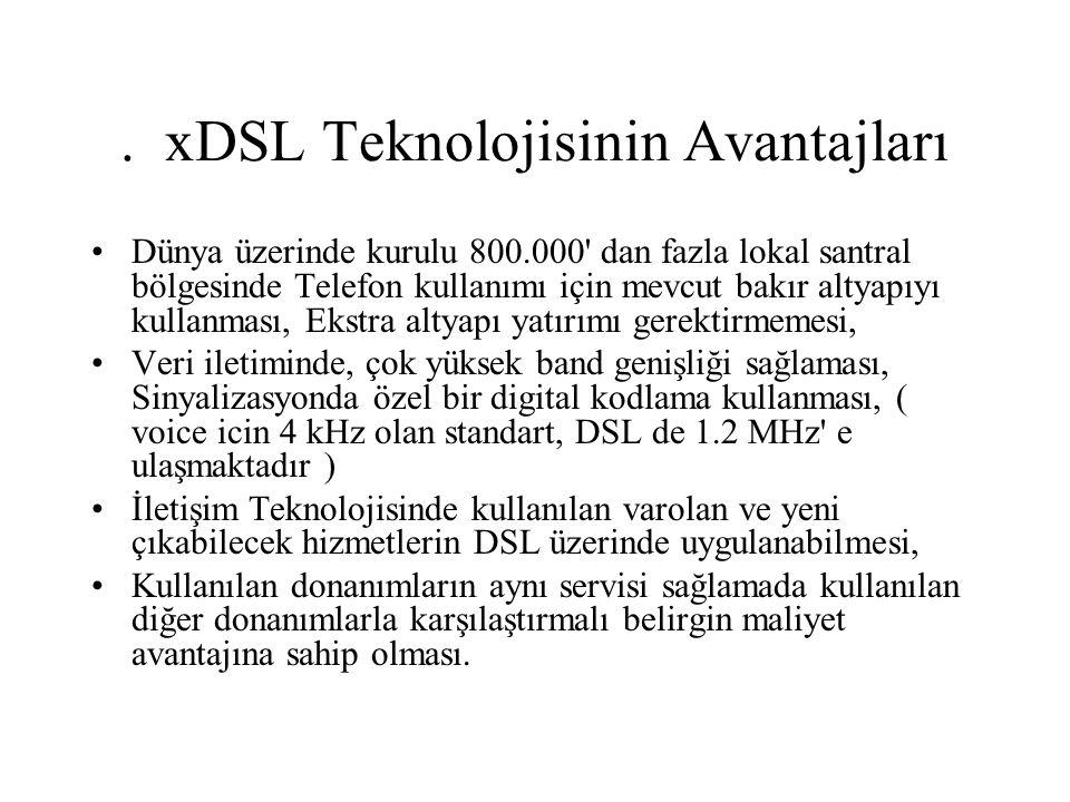 . xDSL Teknolojisinin Avantajları