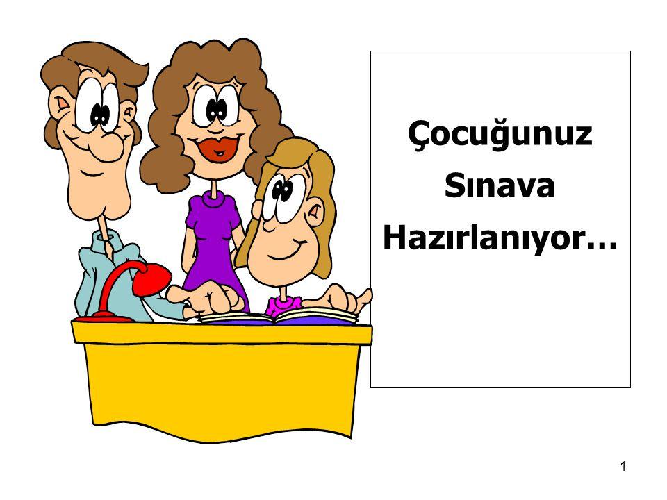 Çocuğunuz Sınava Hazırlanıyor… ÇOCUĞUNUZ SINAVA HAZIRLANIYOR!..