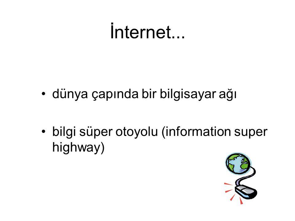 İnternet... dünya çapında bir bilgisayar ağı