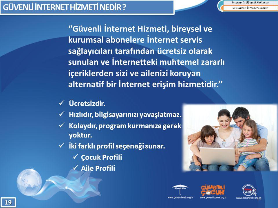 İnternetin Güvenli Kullanımı ve Güvenli İnternet Hizmeti
