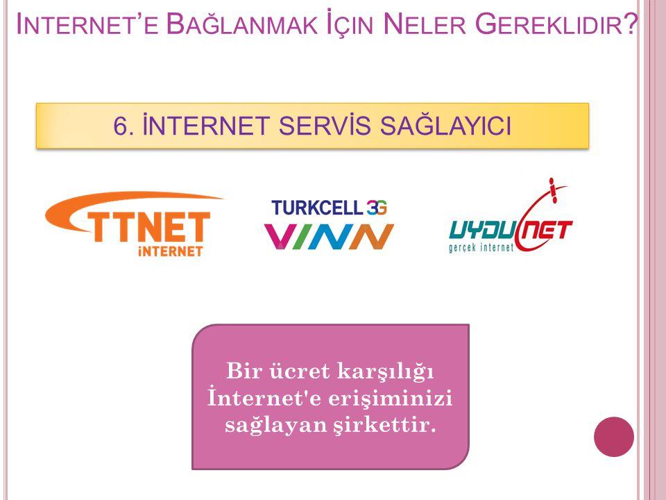 Internet'e Bağlanmak İçin Neler Gereklidir