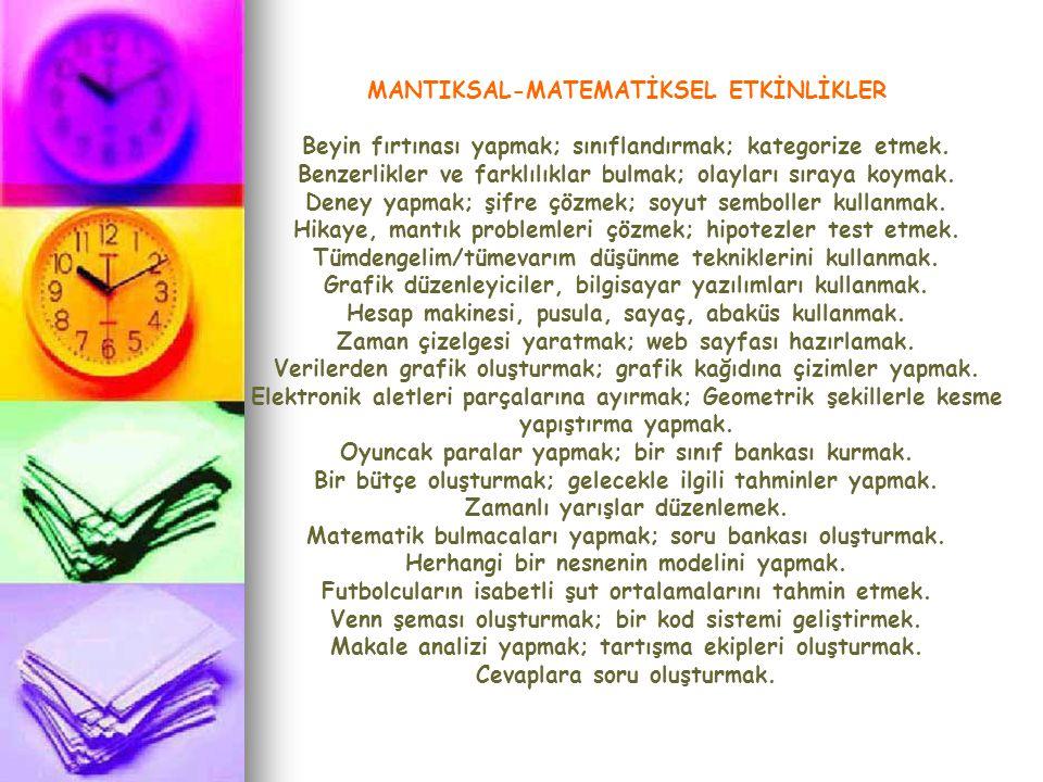 MANTIKSAL-MATEMATİKSEL ETKİNLİKLER