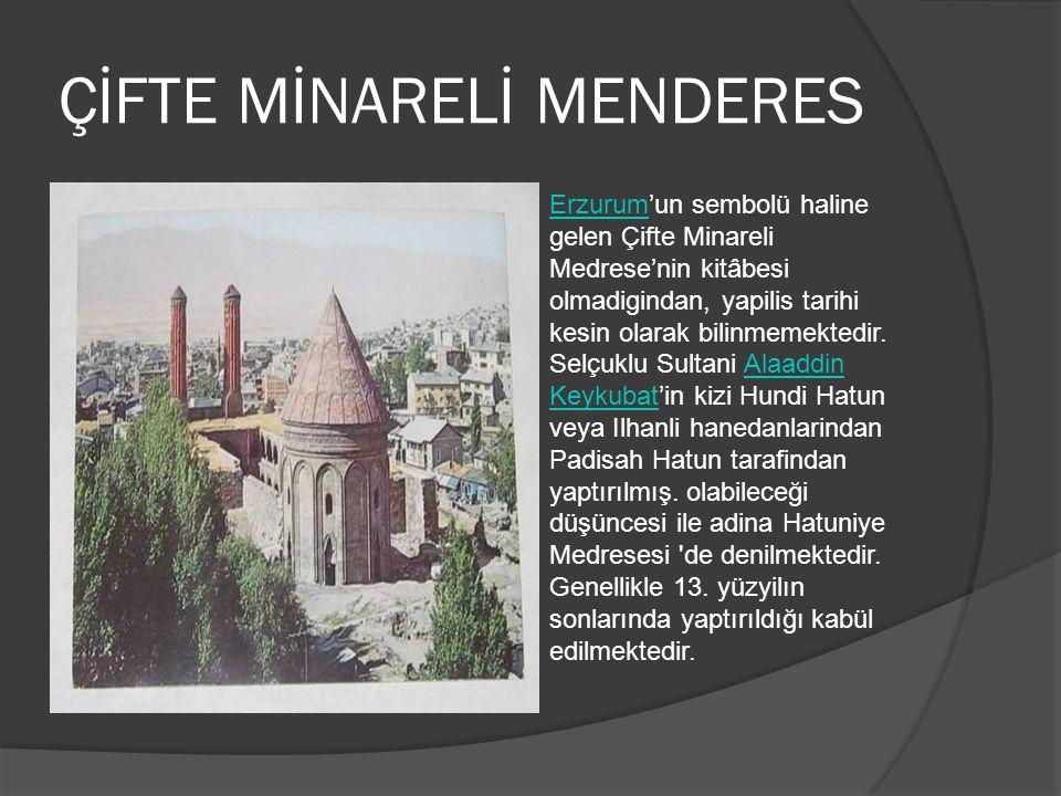 ÇİFTE MİNARELİ MENDERES