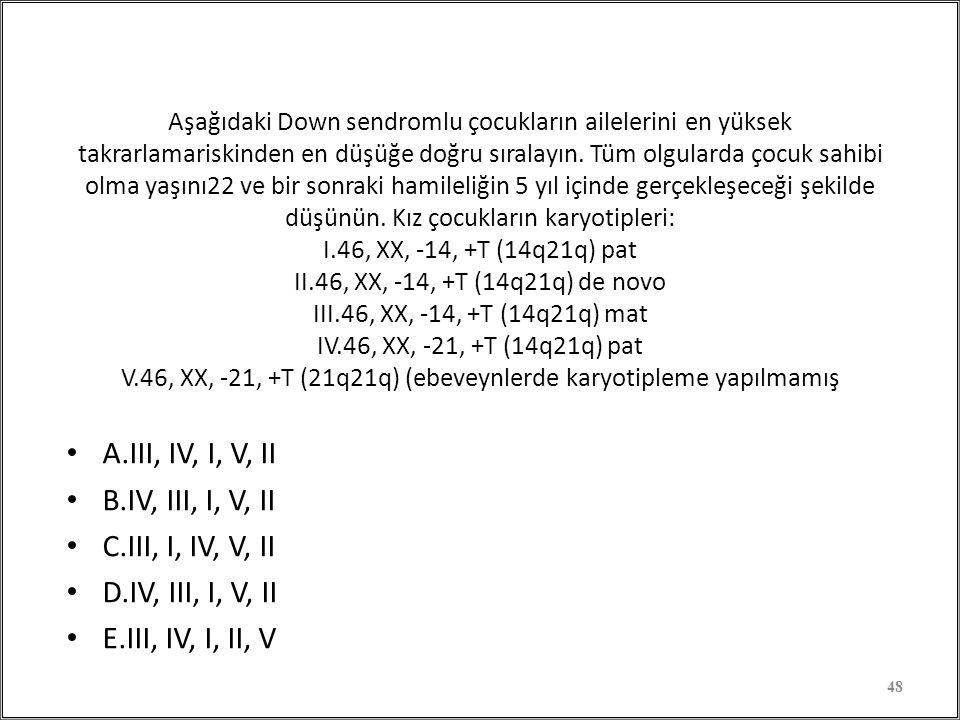 A.III, IV, I, V, II B.IV, III, I, V, II C.III, I, IV, V, II