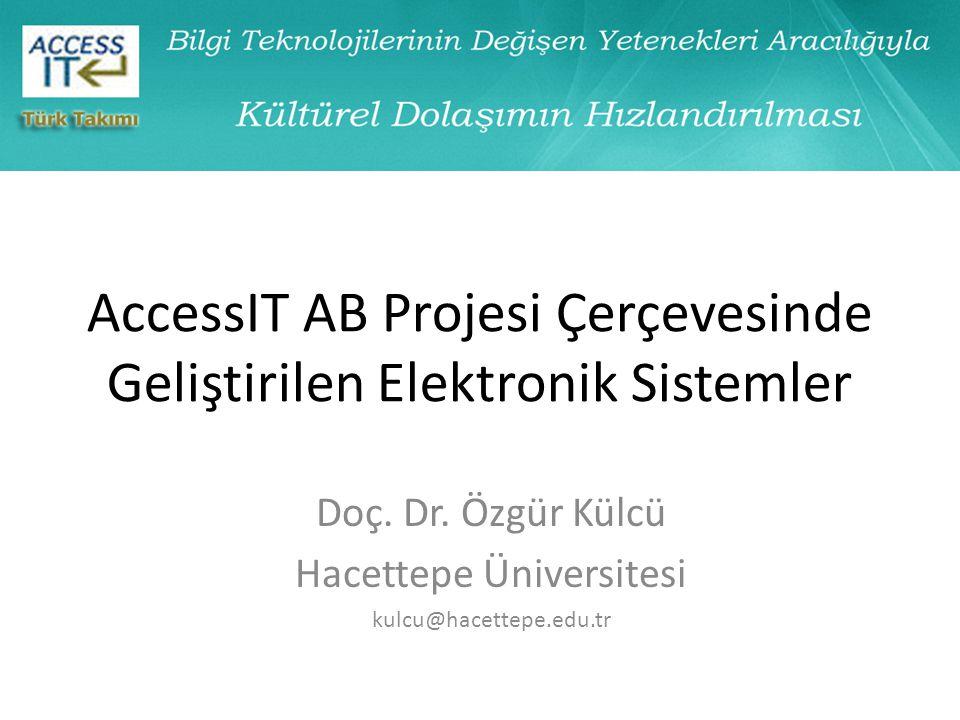 AccessIT AB Projesi Çerçevesinde Geliştirilen Elektronik Sistemler