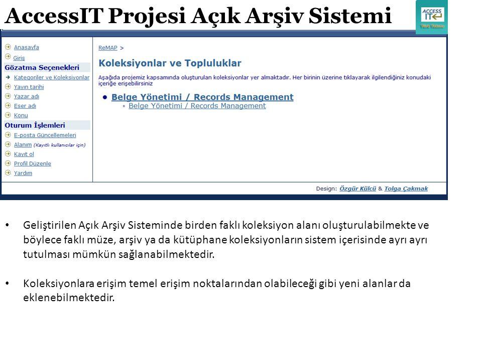 AccessIT Projesi Açık Arşiv Sistemi