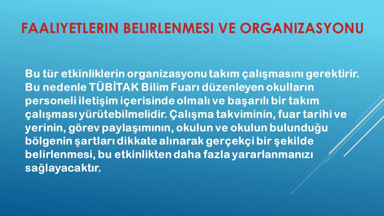 Faaliyetlerin Belirlenmesi ve Organizasyonu
