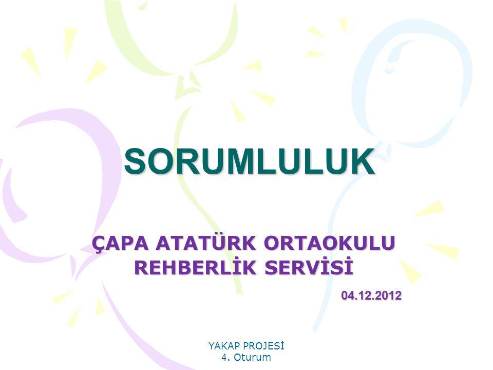ÇAPA ATATÜRK ORTAOKULU REHBERLİK SERVİSİ 04.12.2012
