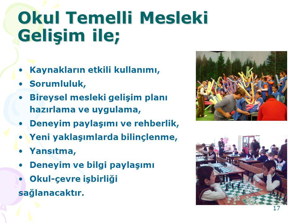 Okul Temelli Mesleki Gelişim ile;