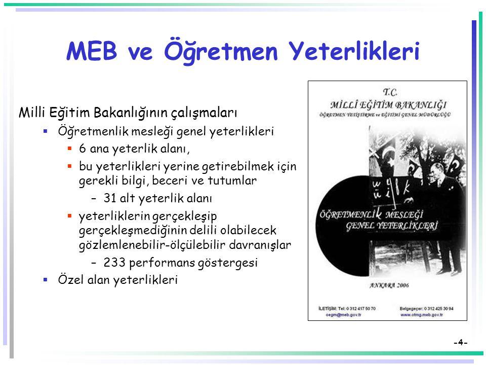 MEB ve Öğretmen Yeterlikleri