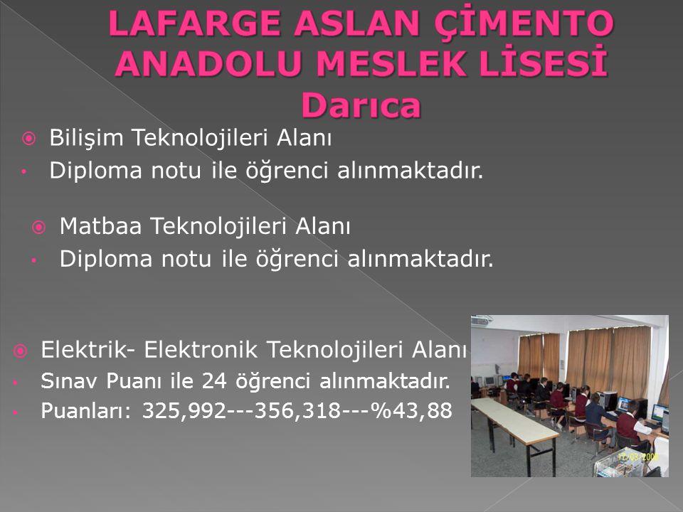 LAFARGE ASLAN ÇİMENTO ANADOLU MESLEK LİSESİ Darıca